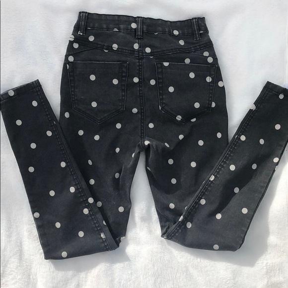 c44dc8ce558b0 Primark Jeans | Polka Dot High Waisted | Poshmark